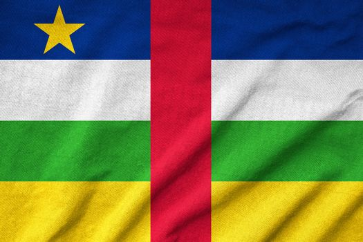 Ruffled Central African Republic Flag