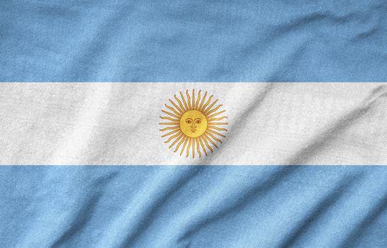Ruffled Argentina Flag