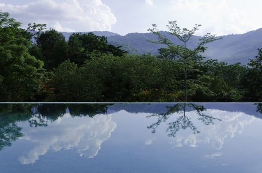 Reflections on the infinity pool