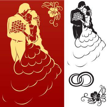 Wedding Background - Hand Drawn Illustration, Vector