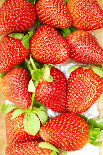 Fresh strawberry. Close-up colorful photo