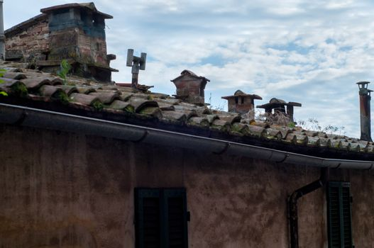 Roof of old historical building