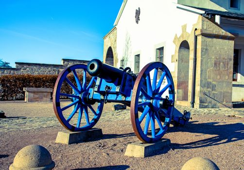 A Napoleonic style civil war cannon and cais-son