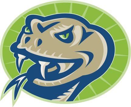 Viper Snake Serpent Mascot Head