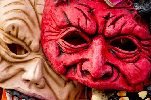 Horror mask of Halloween