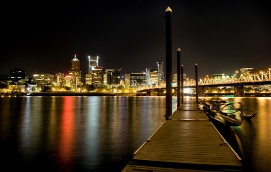 Night Shot Portland Oregon