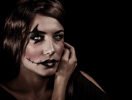 Aggresive Halloween makeup