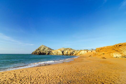 Deserted beach near Cabo de la Vela in La Guajira, Colombia