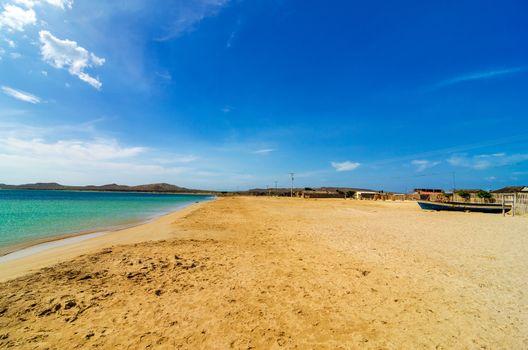 View of beach and sea in Cabo de la Vela in La Guajira, Colombia