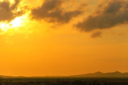 Early morning view in the town Cabo de la Vela in La Guajira, Colombia