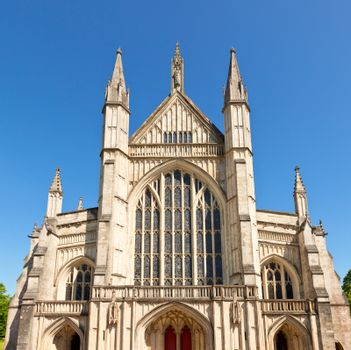 Winchester Cathedral facade