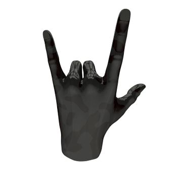 Hand sign gesture with the support of the spoken.