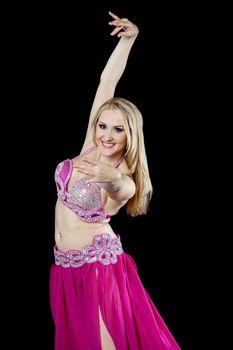 Portrait of a beautiful belly dancer