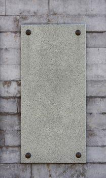 marble memorial board