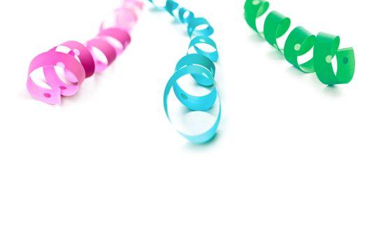 multicolored serpentines