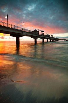 Pier in Sunset