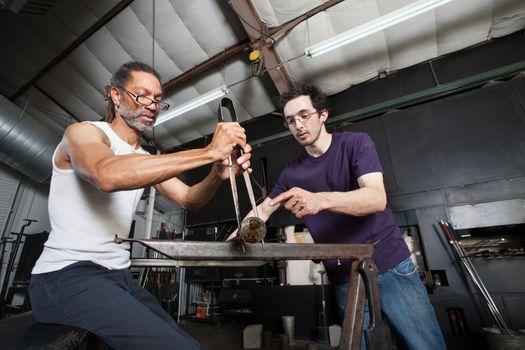Glass Manufacturing Teamwork