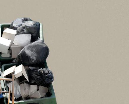 Refuse or rubbish skip background