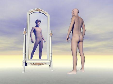 Desire for hair - 3D render