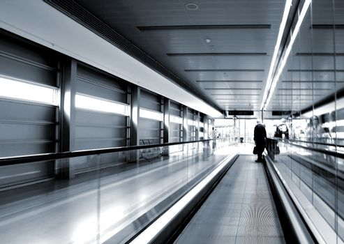 Airport architecture graphic design detail