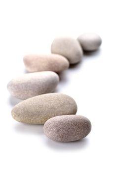 gray stones in a row