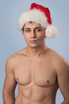 portrait of muscular santa
