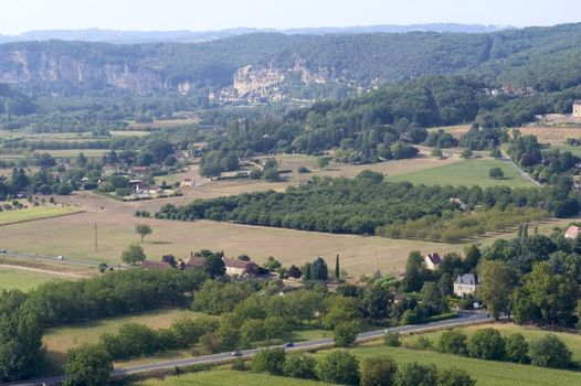 Landscape view of Domme