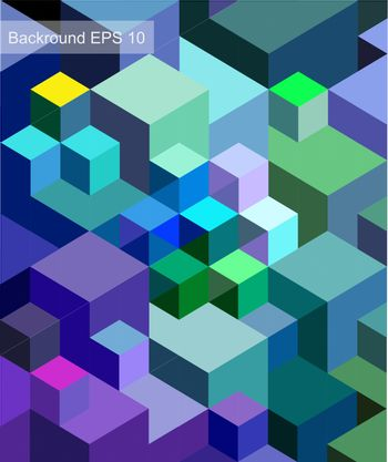 Vector background of geometric squares
