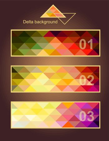 Vector backgrounds of geometric squares