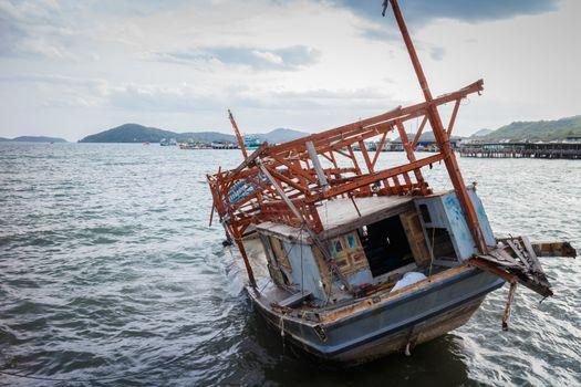 Fishing boat sinking
