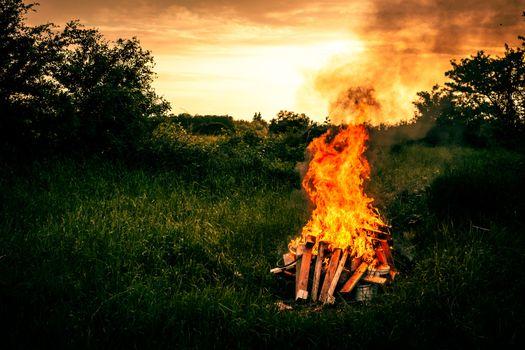 Bonfire scenery