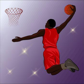 Basketball Slam Dunk - Illustration