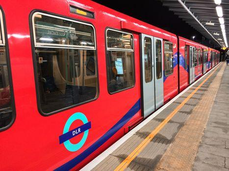 LONDON - SEP 28: London DLR, Docklands Light Railway, is automat