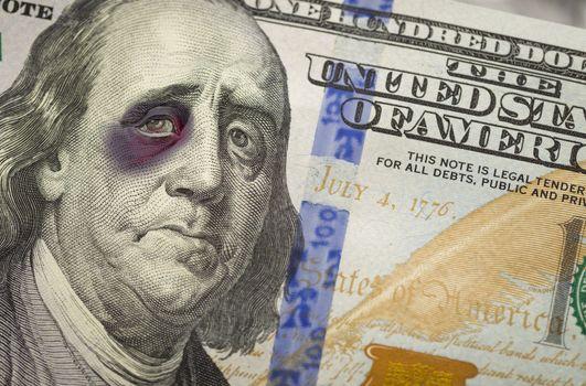 Black Eyed Ben Franklin on New One Hundred Dollar Bill