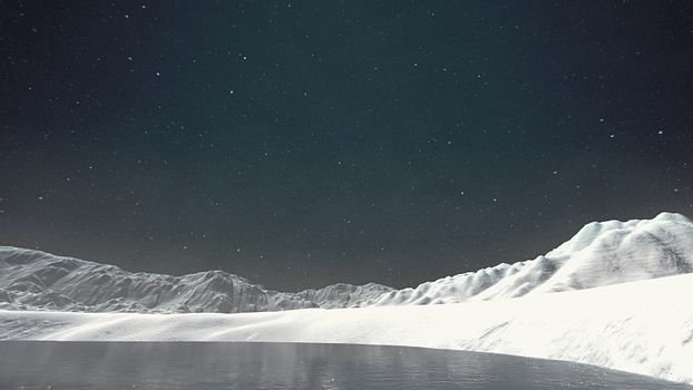 Snow in the Arctic