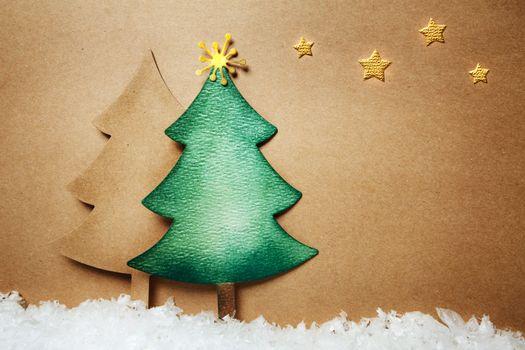 Paper craft Chsitmas trees