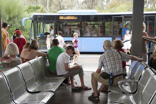 Paphos Transport Organisation bus station southern Cyprus
