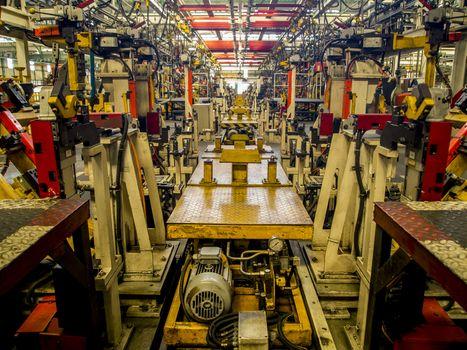 Assembly line for make car