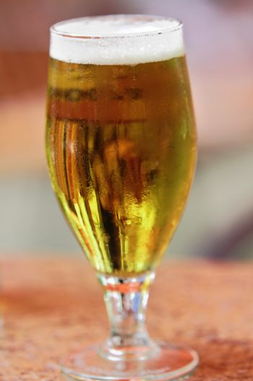glass of fresh bier