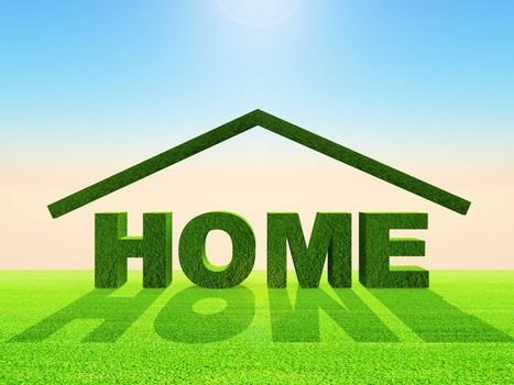 illustration of ecological home