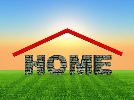 illustration of sweet home