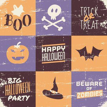 Halloween Vintage Collage