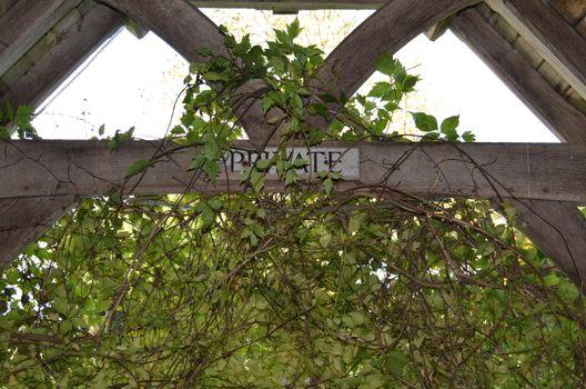 Private sign.