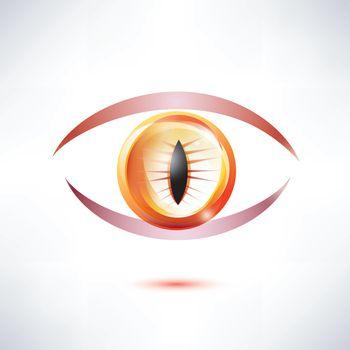 snake, beast eye, abstract glossy shape