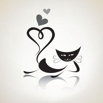 romantic black pussycat dreaming