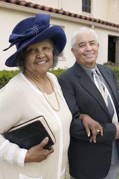 Senior Couple Going to Church on Sunday portrait