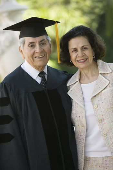 Senior Graduate and Wife outside portrait