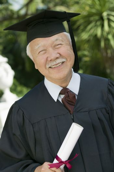 Senior Graduate outside portrait