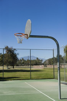 Playground basketball hoop