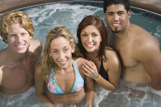Friends In Jacuzzi